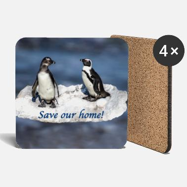 Planetcontest Pinguine Scholle Save our home - Untersetzer