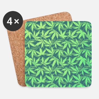 Leaf Cannabis / Weed / Marijuana - Pattern (Phone Case) - Dessous de verre (lot de 4)