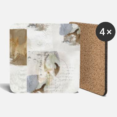 Decoration Abstract Leaves in Neutral Colours - Coasters