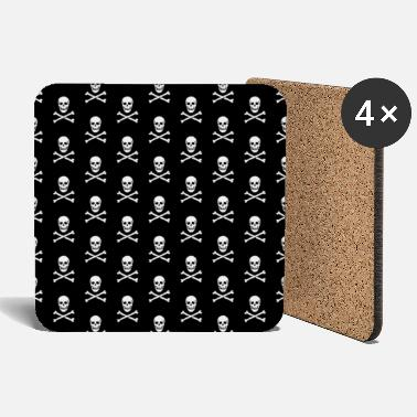 Skull and crossbones (pattern / PNG) - Coasters