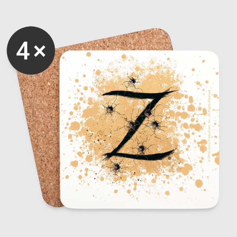 Zorro The Hero's Trademark Letter Z Initial - Coasters (set of 4)