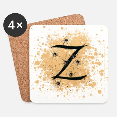 Officialbrands Zorro The Hero's Trademark Letter Z Initial - Coasters (set of 4)