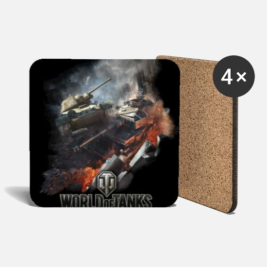 Tigertank Mugs & Drinkware - World of Tanks - Battlefield Cover - Coasters white