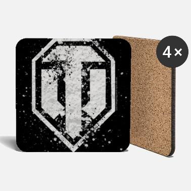 World of Tanks Logo vintage Coasters - Sottobicchieri