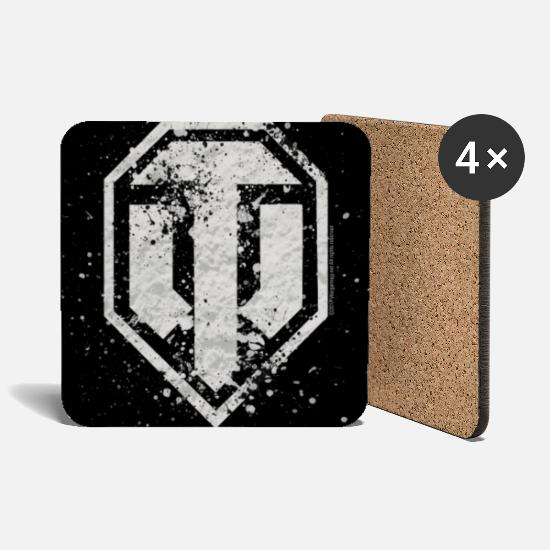 Officialbrands Mugs & Drinkware - World of Tanks - Logo Vintage - Coasters white