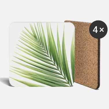 Decoration Green Palm Leaves (2) - Coasters