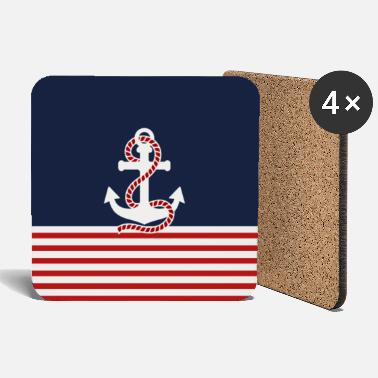 Homedecor Nautical anchor and stripes - Coasters