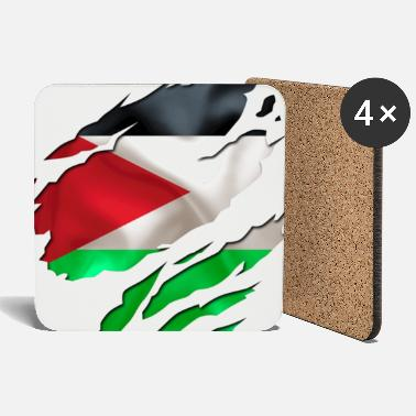 Country Flag Football Sport And Arab Art Jesus cool israel palestine - Coasters