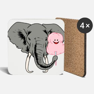 Cotton Elephant with sweet cotton candy - Coasters