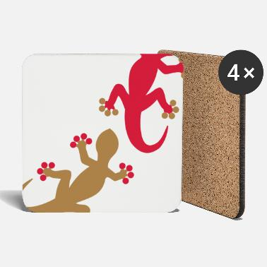 Two Two geckos 2c - Coasters