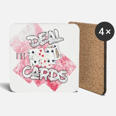 Deal the cards - show your hand in poker - Coasters