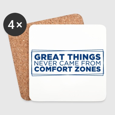 Great things never came from comfort zones - Glasbrikker (sæt med 4 stk.)