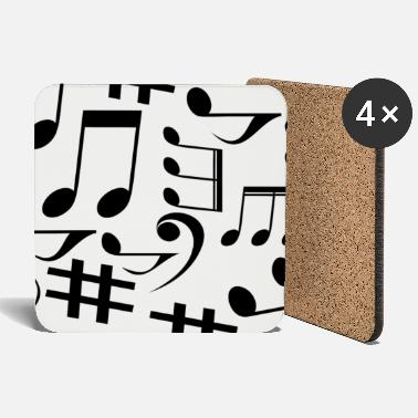 Note Musical notes, music, notes - Coasters