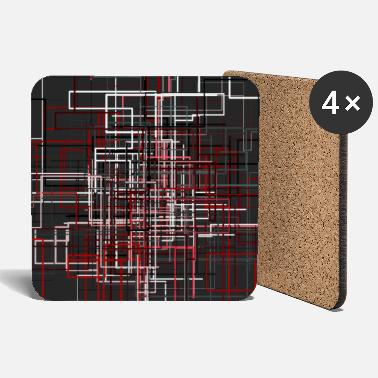 Abstract Abstract line network 1 colored - Coasters
