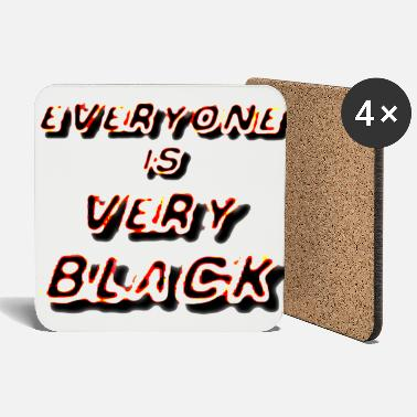 Underground Everyone is very black by technoart dsgn - Coasters