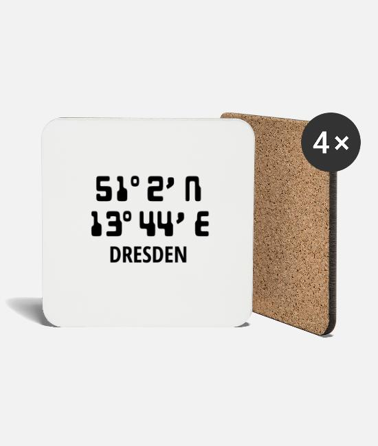 Proud Mugs & Drinkware - Dresden - Coasters white
