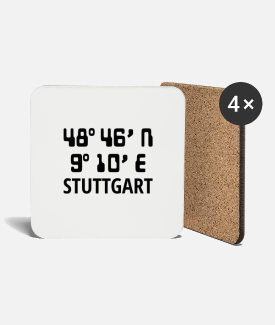 Proud Mugs & Drinkware - Stuttgart - Coasters white