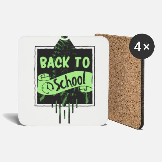 Back To School Mugs & Drinkware - Back to school - Coasters white
