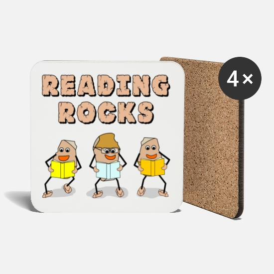 Education Mugs & Drinkware - Reading Rocks - Coasters white