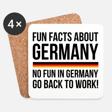 Fun Germany Fun Facts - Dessous de verre (lot de 4)