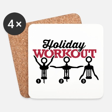 Fitness Holiday workout corkscrew - Glasbrikker (sæt med 4 stk.)