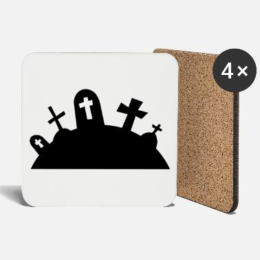 Grave Graves cemetery halloween / graveyard graves - Coasters