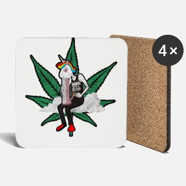 Smoker Cannabis - canopy / unicorn - unicorn - Coasters