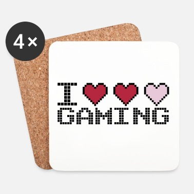 Old School I Heart Gaming Quote - Sottobicchieri (set da 4 pezzi)