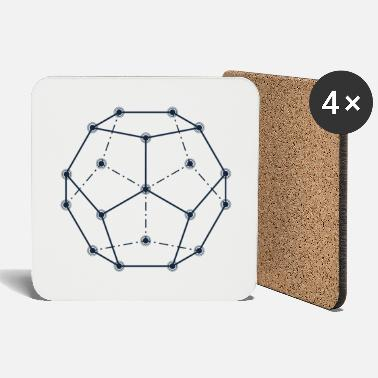 Dodecahedron Dodecahedron, Sacred Geometry - Coasters