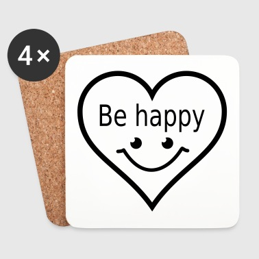 be happy - Coasters (set of 4)