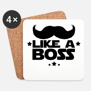 Like A Boss like a boss(moustache) - Dessous de verre (lot de 4)