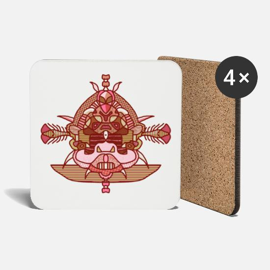 Boarders Mugs & Drinkware - Sitting buddha caramel - Coasters white