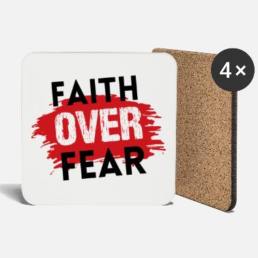 Christian T-Shirts | Faith over fear - Coasters