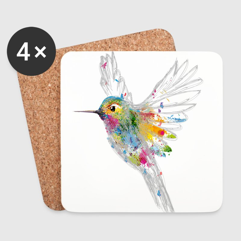 Un colibri Aquarelle Graffiti - Dessous de verre (lot de 4)