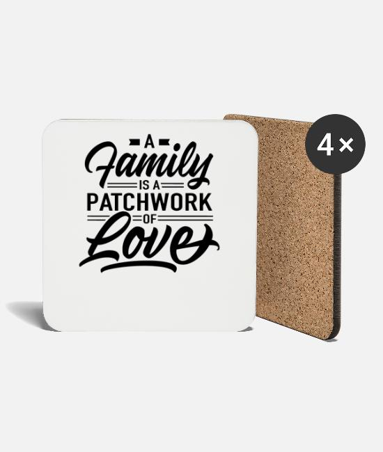 Family Mugs & Drinkware - Patchwork family - Coasters white