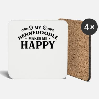 Plus My Bernedoodle makes me happy dog - Coasters