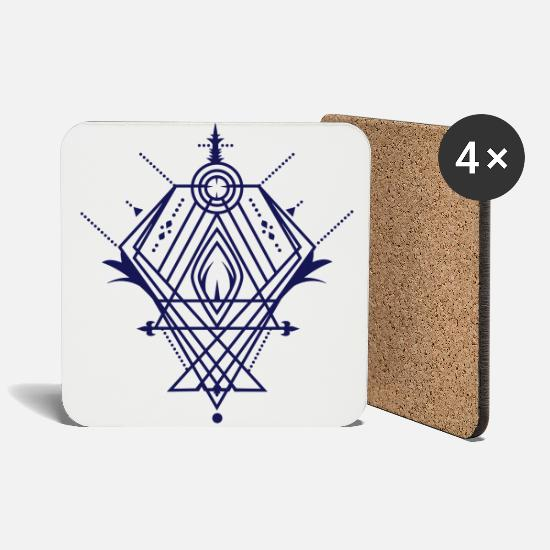 Tattoo Mugs & Drinkware - A mystical symbol  - Coasters white
