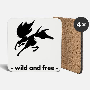 Fox - wild and free - - Coasters