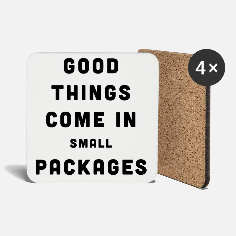 Cool Mugs & Drinkware - Good Things / Small Packages - Coasters white