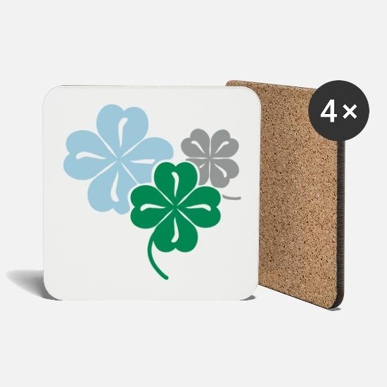 Symbol  Mugs & Drinkware - Clover - Coasters white