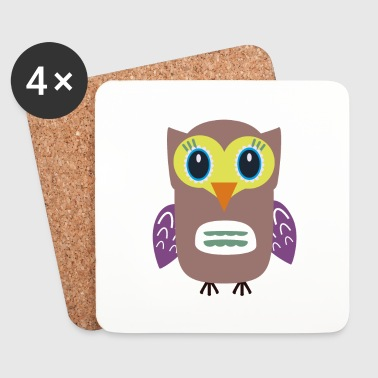 Ugly OWL - Coasters (set of 4)