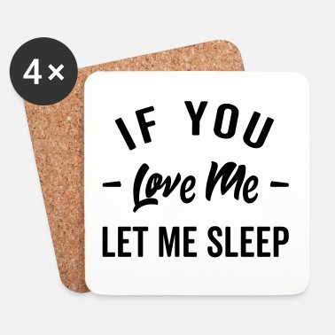 Offensiv Let Me Sleep Funny Quote - Underlägg (4-pack)