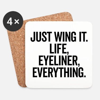 Just Just Wing It Funny Quote - Sottobicchieri (set da 4 pezzi)