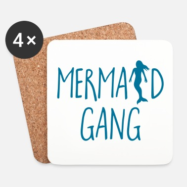 Gang Mermaid Gang Funny Quote - Posavasos (juego de 4)