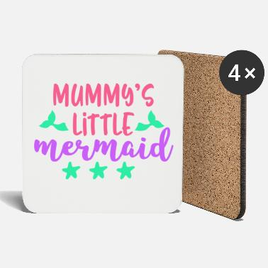 Mummys Little Mermaid Gift Mermaid - Coasters