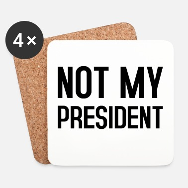 Obama NOT MY PRESIDENT TYPO - Dessous de verre (lot de 4)