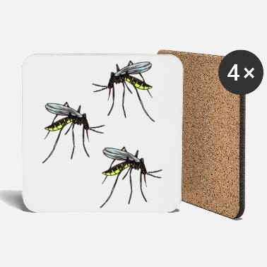 Pest Mosquito insects pests bloodsucker phobia mosquito - Coasters