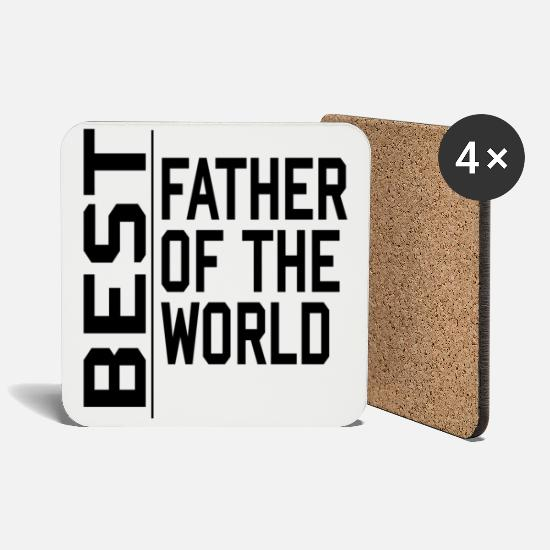 Daddy Tassen & Becher - Best Father of the World Dad Vater Papa - Untersetzer Weiß