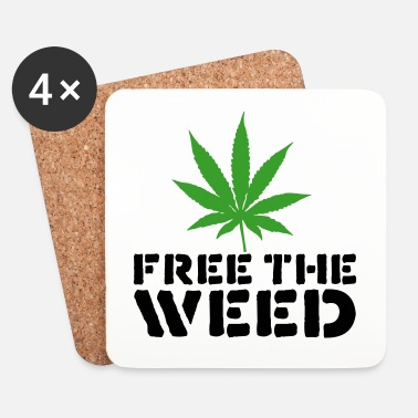 Stoner Free The Weed Quote - Underlägg (4-pack)