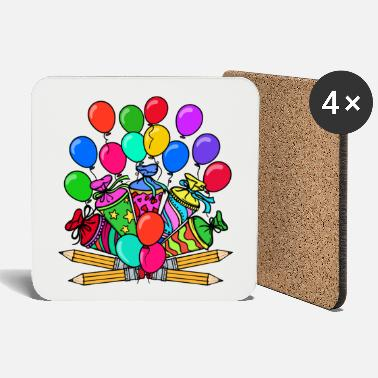 School School School Day School Child School Beginning School Bag - Coasters